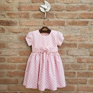 Vestido Infantil Bolas Rosa