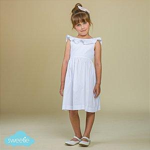 Vestido Infantil Babado Branco