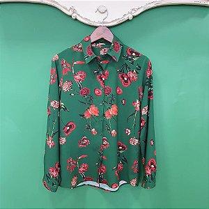 Camisa Mãe Floral Verde
