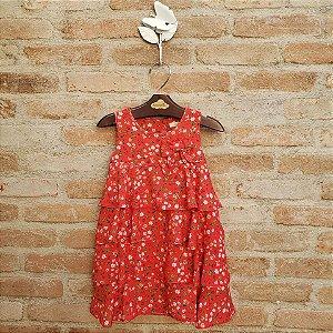 Vestido Bebê Viscose Modena Floral