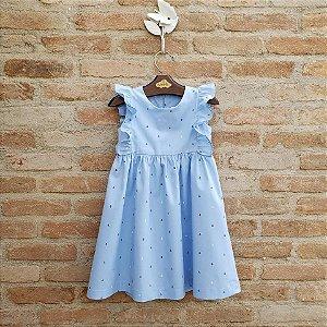 Vestido Infantil Capri Âncoras Azul