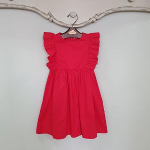 Vestido Infantil Capri Vermelho