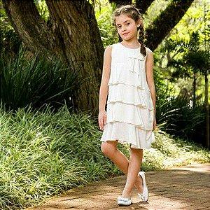 Vestido Infantil Branco Modena DEF