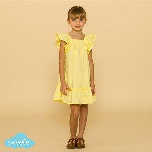 Vestido Infantil Bolonha Amarelo