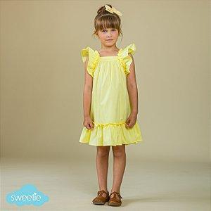 Vestido Infantil Bolonha Amarelo DEF
