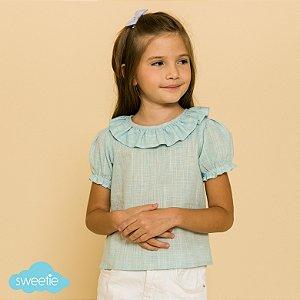 Blusa Infantil Viscolinho Azul