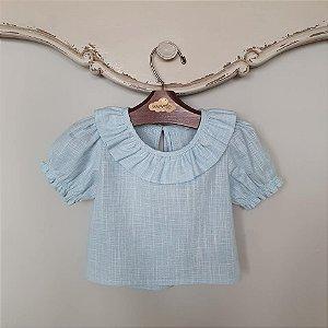 Blusa Bebê Viscolinho Azul