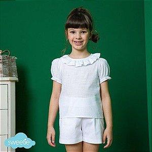 Blusa Infantil Viscolinho Branca