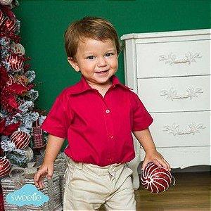 Camisa Body Bebê Vermelho