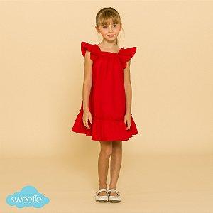 Vestido Infantil Bolonha Vermelho