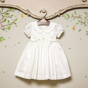 Vestido Bordado Infantil 400 Fios Anne