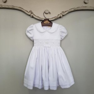 Vestido Bordado Bebê Chanel Branco