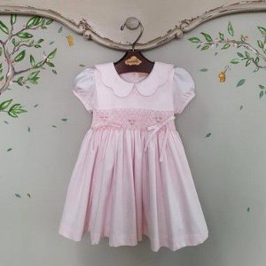 Vestido Bordado Infantil Melissa Rosa