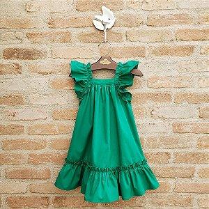 Vestido Bebê Bolonha Verde