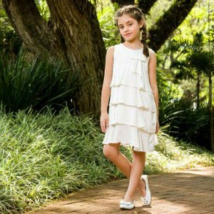 Vestido Infantil Modena Branco