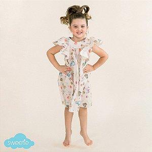 Vestido Infantil Margarida Bichinhos Páscoa