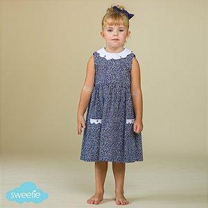 Vestido Infantil Nuvem Gola Branca