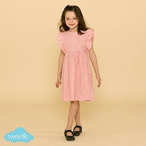 Vestido Infantil Capri Âncoras Rosa