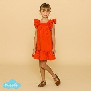 Vestido Infantil Bolonha Laranja