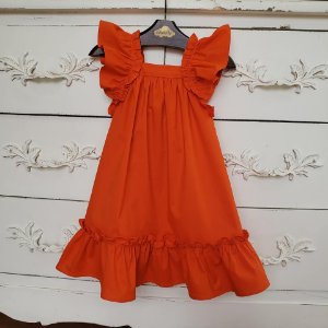 Vestido Bebê Bolonha Laranja