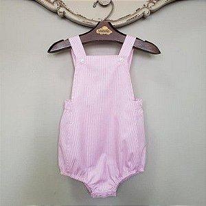 Banho de Sol Bebê Unissex Listrado Rosa DEF