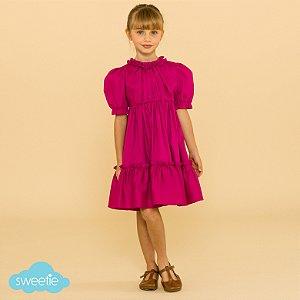 Vestido Infantil Lírio Pink