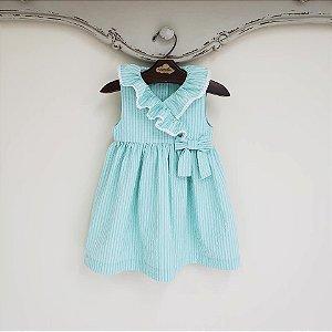 Vestido Bebê Amarilis Verde Piscina