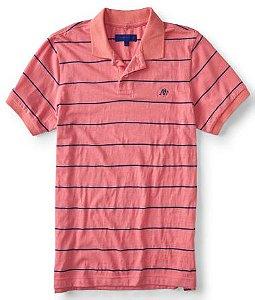Camisa Aeropostale A87 Thin Stripe Jersey Polo G