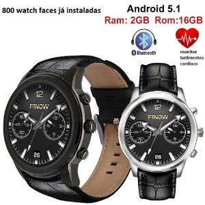 Smartwatch Finow Prata X5 Air 16gb Rom 2gb Ram Pronta Entrega