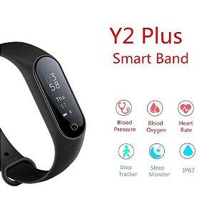 Y2 Plus Smartband Pulseira Inteligente Com Monitor Cardíaco e pressão arterial