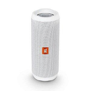 Caixa de Som Portátil JBL Flip4 Conexão Bluetooth à Prova D'água – 16W - Branca