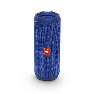 Caixa de Som Portátil JBL Flip4 Conexão Bluetooth à Prova D'água – 16W - Azul