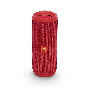 Caixa de Som Portátil JBL Flip4 Conexão Bluetooth à Prova D'água – 16W - Vermelha