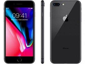 """iPhone 8 Apple Plus com 64GB/ 256Gb Tela Retina HD de 5,5"""", iOS 11, Dupla Câmera Traseira, Resistente à Água, Wi-Fi, 4G LTE - Preto"""