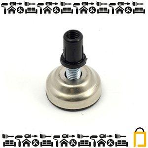 Pé Nivelador De Metal E Bucha -  1/4 -  20mm - 4un