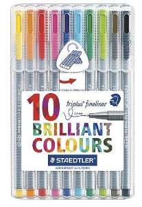 Caneta Staedtler Triplus Fineliner 10 cores