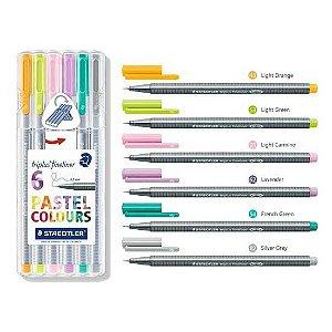 Caneta Staedtler Triplus Fineliner Pastel Colors 6 cores