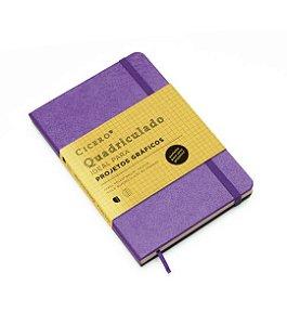 Caderneta Cicero Classica Roxa Quadriculado
