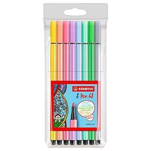 Kit Stabilo Pen 68 Pastel 8 cores