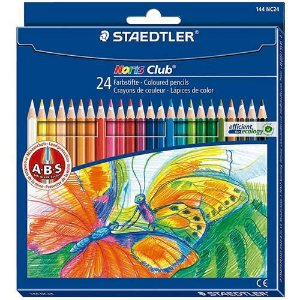 Kit Lapis cor Staedtler Noris Club 24 cores