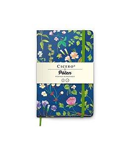 Caderneta Cicero Polen Pontado+Paginado Floral