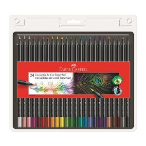 Kit Lapis Cor Faber Castell SuperSoft 24 cores