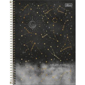 Caderno Universitário 10 Materias Tilibra Magic Just Like Moon