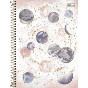 Caderno Universitário 10 Materias Tilibra Magic Just Let Your Light