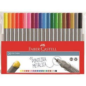 Estojo Faber Castell Grip Fine Pen 20 cores