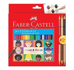 Ecolapis de Cor Faber Castell Caras e Cores 24+3 cores