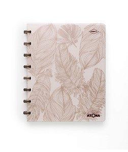 Caderno Atoma So Chic A5 - Penas - Edição Limitada