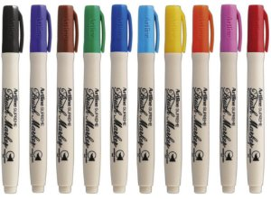 Kit Caneta Pincel Artline Brush 10 cores