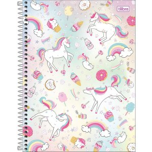 Caderno Universitário Tilibra Blink Unicornio Donut 1 materia