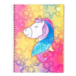 Caderno universitario Cicero Unicornio Cores